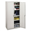 HON Assembled Storage Cabinet, 36w x 18-1/4d x 71-3/4h, Light Gray