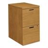 HON 10500 Series File/File Mobile Pedestal, 15 3/4w x 22 3/4d x 28h, Harvest