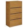 10500 Series Four-Drawer Lateral File, 36w x 20d x 59-1/8h, Harvest