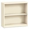 HON Metal Bookcase, Two-Shelf, 34-1/2w x 12-5/8d x 29h, Putty