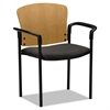 Pagoda 4091 Series Guest Chair, Harvest Wood Back/Gray Fabric Seat, 2/Carton