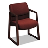 HON 2400 Series Guest Arm Chair, Mahogany Finish, Burgundy Fabric