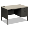 Metro Classic Right Pedestal Desk, 48w x 30d x 29 1/2h, Gray Patterned/Charcoal