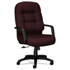 HON 2090 Pillow-Soft Series Executive High-Back Swivel/Tilt Chair, Wine Fabric/Black