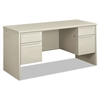 38000 Series Kneespace Credenza, 60w x 24d x 29-1/2h, Light Gray
