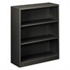 HON Metal Bookcase, Three-Shelf, 34-1/2w x 12-5/8d x 41h, Charcoal