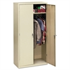 HON Assembled Storage Cabinet, 36w x 18-1/4d x 71-3/4h, Putty