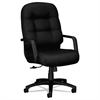 HON 2090 Pillow-Soft Series Executive High-Back Swivel/Tilt Chair, Black/Black