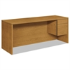 HON 10500 Series 3/4-Height Right Pedestal Credenza, 72w x 24d x 29-1/2h, Harvest