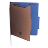 Pressboard Classification Folders, Letter, Four-Section, Cobalt Blue, 10/Box