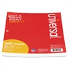Universal Filler Paper, 8 1/2 x 11, College Rule, White, 200 Sheets/Pack