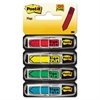 "Post-it Arrow Message 1/2"" Page Flags, ""Sign Here"", 4 Colors w/Dispensers, 120/Pack"