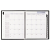 DayMinder Hard-Cover Monthly Planner, 6 7/8 x 8 3/4, Black, 2017