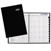 Hard-Cover Monthly Planner, 7 7/8 x 11 7/8, Black, 2016-2018