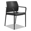 HON Accommodate™ Series Guest Chair with Fixed Arms, Black Vinyl