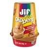 Jif To Go Dippers, Creamy Peanut Butter w/Pretzels, 1.69 oz Cup, 8/Carton