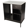 Alera Plus Hospitality Base Cabinet, One Door/Drawer, 36 x 24 x 36, Gray/Granite Nebula