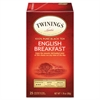 Tea Bags, English Breakfast, 1.76 oz, 25/Box
