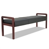 Alera Alera Reception Lounge WL Series Bench, 65 3/4 x 22 1/4 x 22 7/8, Black/Mahogany