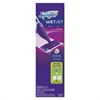 "WetJet Mop Starter Kit, 46"" Handle, Silver/Purple"