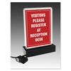 LED Lighted T-Sign, 11 1/2 x 14, Clear