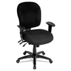 Alera Alera Wrigley Series Mid-Back Multifunction Chair, Black, Adjustable Arms
