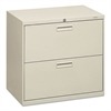 HON 500 Series Two-Drawer Lateral File, 30w x 19-1/4d x 28-3/8h, Light Gray