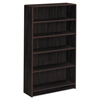 HON 1890 Series Bookcase, Five Shelf, 36w x 11 1/2d x 60 1/8h, Mahogany