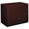 basyx BL Laminate Two Drawer Lateral File, 35 1/2w x 22d x 29h, Mahogany