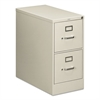 HON 210 Series Two-Drawer, Full-Suspension File, Letter, 28-1/2d, Light Gray
