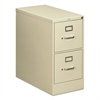 HON 210 Series Two-Drawer, Full-Suspension File, Letter, 28-1/2d, Putty