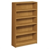 1890 Series Bookcase, Five Shelf, 36w x 11 1/2d x 60 1/8h, Harvest