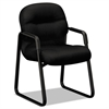 HON 2090 Pillow-Soft Series Guest Arm Chair, Black Upholstery/Black Sled Base