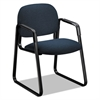 Solutions 4000 Series Seating Sled Base Guest Chair, Blue