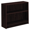 HON 1870 Series Bookcase, Two Shelf, 36w x 11 1/2d x 29 7/8h, Mahogany