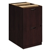 basyx BW Veneer Series File/File Pedestal File, 15-5/8w x 22d x 27-3/4h, Mahogany
