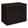 basyx BW Veneer Series Two-Drawer Lateral File, 36 x 24 x 29, Mahogany