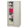 Easy-to-Assemble Storage Cabinet, 36w x 18d x 72h, Light Gray