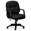 HON 2090 Pillow-Soft Series Managerial Mid-Back Swivel/Tilt Chair, Black/Black