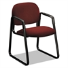 Solutions 4000 Series Seating Sled Base Guest Chair, Burgundy