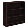 1890 Series Bookcase, Three Shelf, 36w x 11 1/2d x 36 1/8h, Mahogany