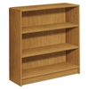 HON 1890 Series Bookcase, Three Shelf, 36w x 11 1/2d x 36 1/8h, Harvest