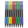 Universal Soft Grip Mechanical Pencil, .7 mm, Assorted Barrel, 10/Pack