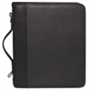 Buxton Zip-Around Cal-Q Folio, Smooth Cover, Calculator, 3-Ring, Pad, Pocket, Black