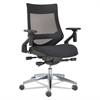 Alera EB-W Series Pivot Arm Multifunction Mesh Chair, Black/Aluminum Frame