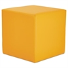 WE Series Collaboration Seating, Cube Bench, 18 x 18 x 18, Saffron