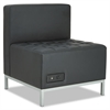 Alera Alera QUB Series Powered Armless L Sectional, 26 3/8 x 26 3/8 x 30 1/2, Black