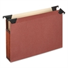 "Pendaflex 3 1/2"" Hanging File Pockets with Swing Hooks, 1/3 Tab, Letter, Brown, 5/Box"