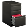 Efficiencies Mobile Pedestal File w/One File/Two Box Drawers, 22-7/8d, Charcoal