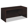 "10700 Series ""L"" Desk, 3/4 Right Pedestal, 66w x 30d x 29 1/2h, Mahogany"